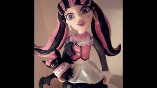 Repeat youtube video 2° parte Monster High Draculaura - Biscuit / Porcelana fria by Clau