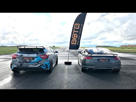 DRAG RACE! Mercedes A45 AMG VS AUDI TT RS!