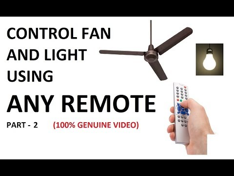 Control a Fan and Light by a tv remote part 2 || Wireless switch for fan and bulb Part 2