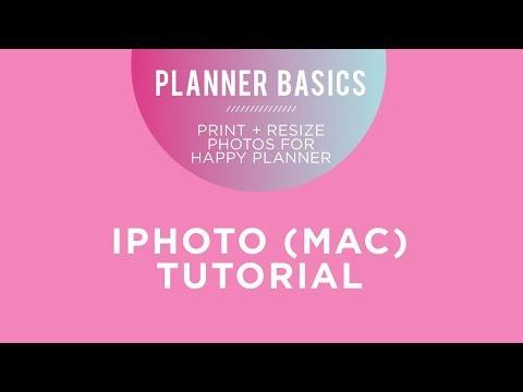 Planner Basics! // Print + Resize Your Photos using iPhoto (Apple)