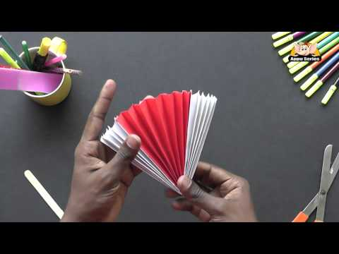 How to make a Chinese Fan - Arts & Crafts in Kannada