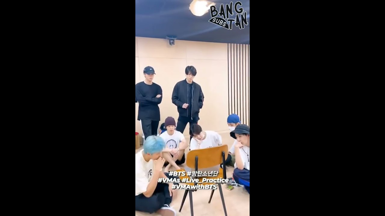 [ENG] 200903 @bts.bighitofficial Instagram Stories - VMA With BTS, Live Practice