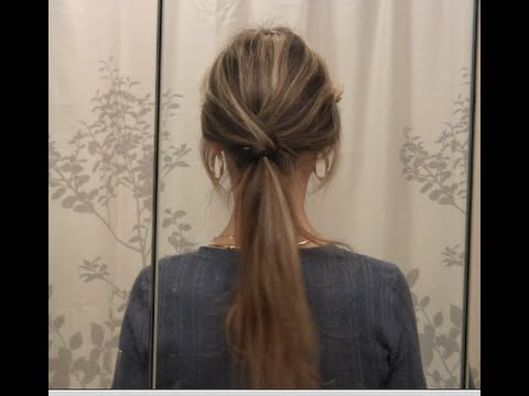 Trendy Low Ponytail Hairstyles Tutorial - Long Hair Styles - YouTube