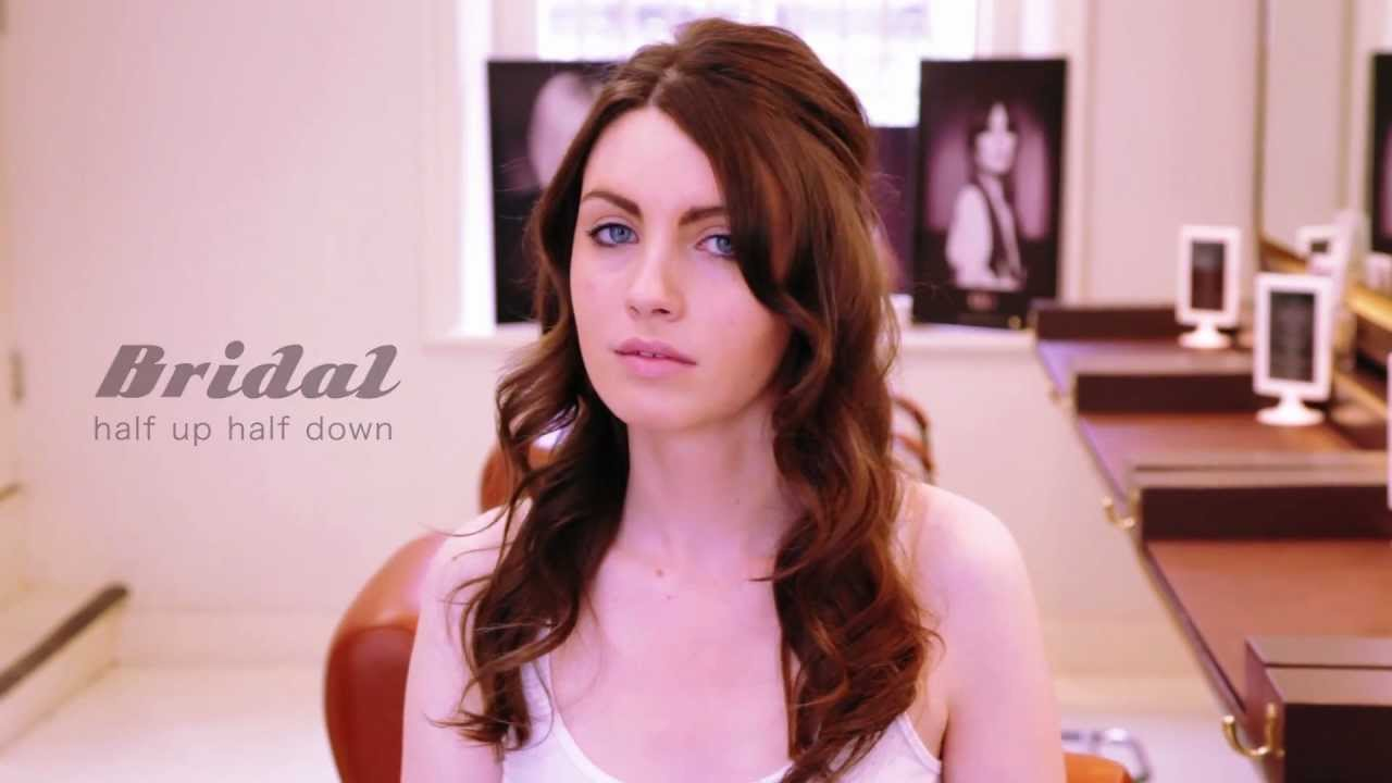 How To Do A Bridal Hair Tutorial Half Up Half Down By Maricia