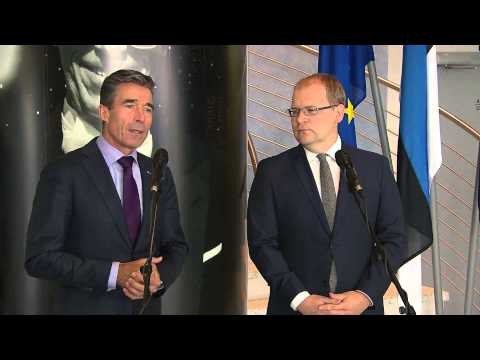NATO Secretary General with Minister of Foreign Affairs of Estonia - Joint Press Point