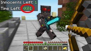 1 SECOND CLUTCH in Minecraft Murder Mystery...