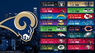 Los Angeles Rams 2018 NFL Schedule Predictions/Outcomes