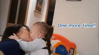 Punchy kiss for mom~Baby video
