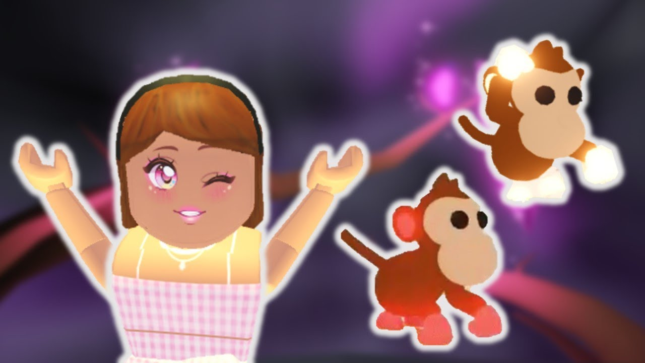 New Mega Neon And Neon Monkey Pet In Adopt Me Roblox Youtube