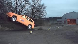 Volvo Crash Test Run Off Road Ditch 80 Km/H