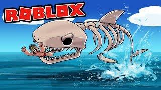Proprietà Roblox . ATTACCO SCHELETRO SQUALO GIGANTE! (Lo squalo in Roblox)