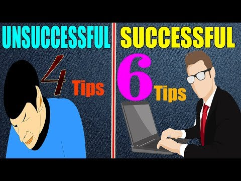 6 Real Tips For Success || Successful vs Unsuccessful People || Motivation Video in Hindi