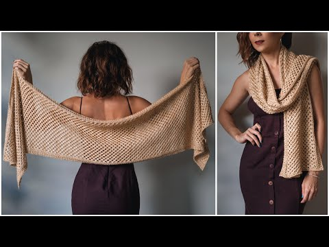 Seren - How to Knit this Easy Beginner Shawl Pattern!