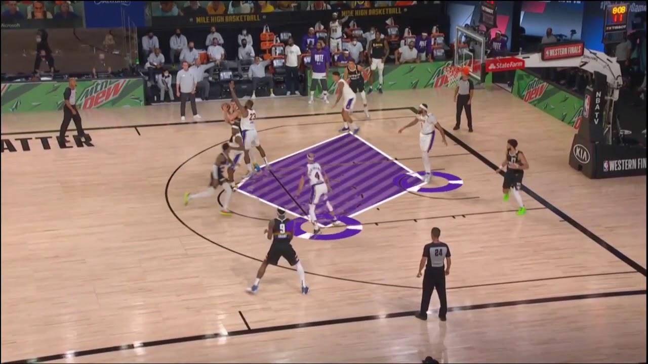 一分鐘帶你了解湖人展現總冠軍級別的區域聯防 ZONE DEFENSE 2020 NBA湖人vs 金塊 - YouTube