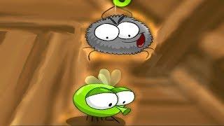 ПАУЧОК ловит зеленых МУХ и убегает от ПЧЕЛ. Мультик игра для детей