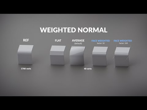 Weighted Normal | Blender 2.8x Tutorial
