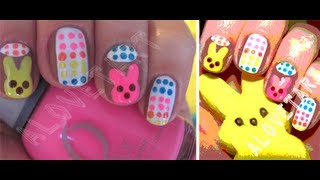 Peeps and Candy Buttons ✧ Nail Tutorial