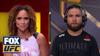 Jeremy Stephens talks with Karyn Bryant after his fight night TKO | INTERVIEW | UFC FIGHT NIGHT
