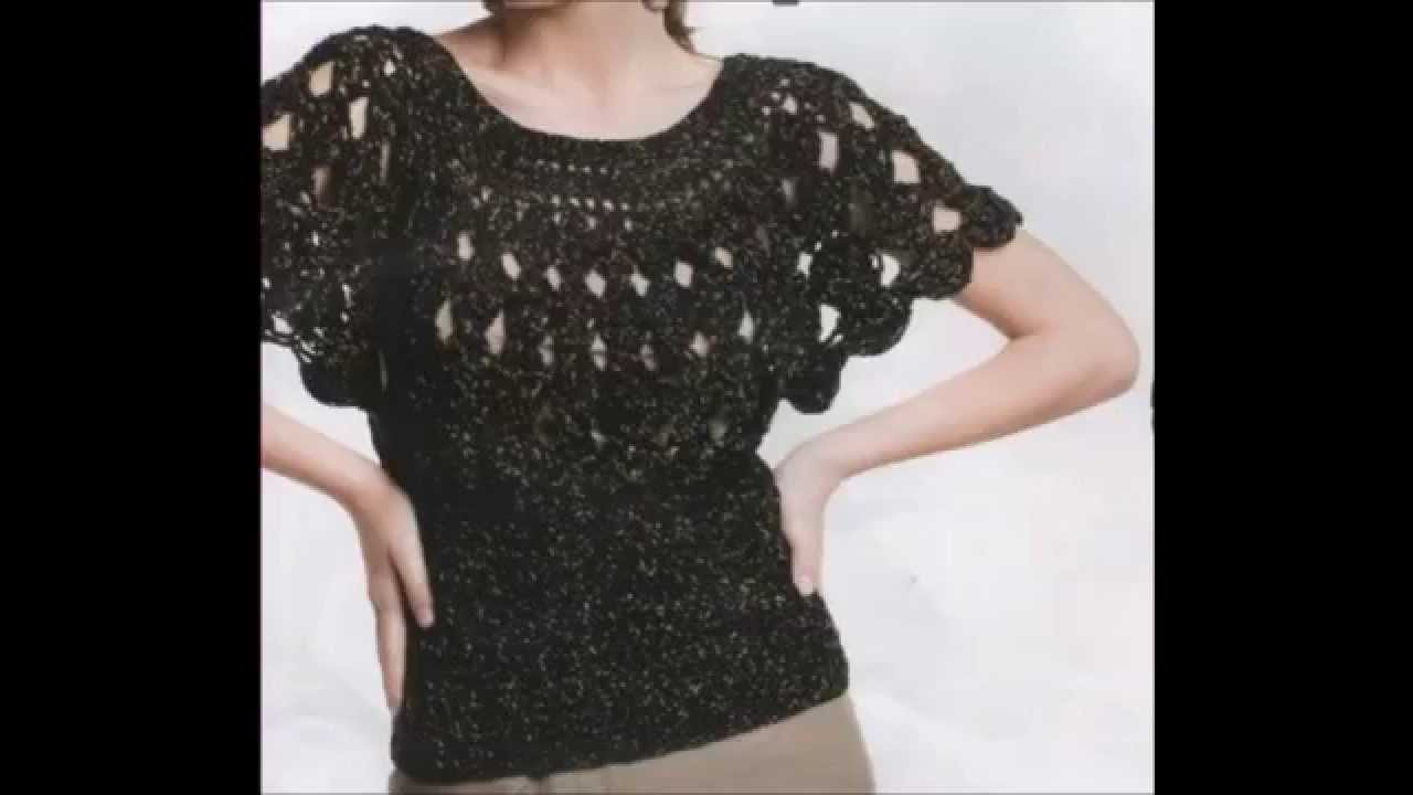 How to Crochet Blouse Black Free Pattern - YouTube