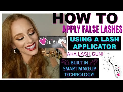How To Apply Lashes Using A Lash Applicator and Smart Makeup Technology