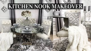 DIY SMALL Kitchen Nook Makeover | DIY Room Decor | Before + After Transformation