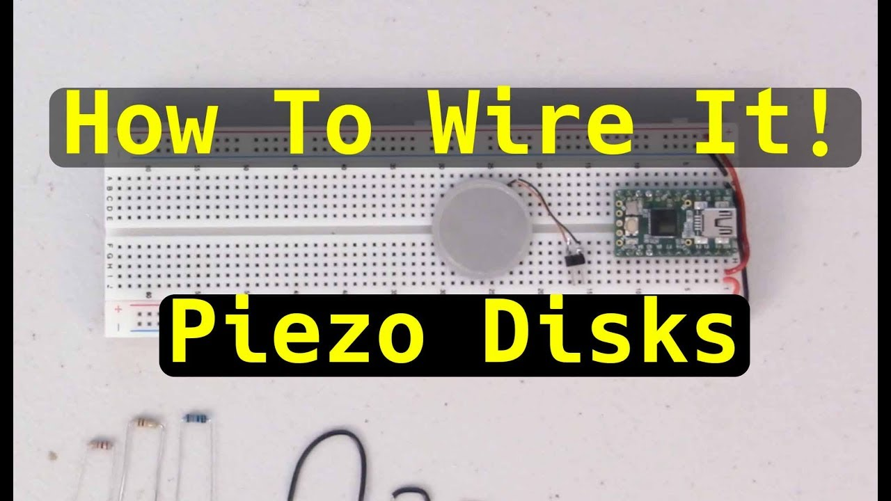 How To Wire It! Piezo Disks - YouTube