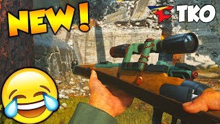 """NEW """"ONE SHOT"""" SNIPER ONLY GAME MODE in COD WW2!! (SNIPER NOSCOPES, FEEDS & FUNNY MOMENTS)"""