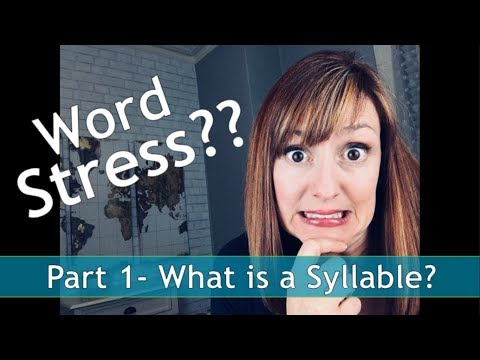 What is a Syllable? Word Stress in American English Part 1