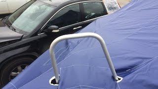 Обзор тента Хавк 520  из ткани boatcover pvc - темно синий цвет