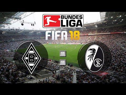 FIFA 18 Bundesliga Borussia Mönchengladbach : Sport-Club Freiburg | Gameplay Deutsch Livestream
