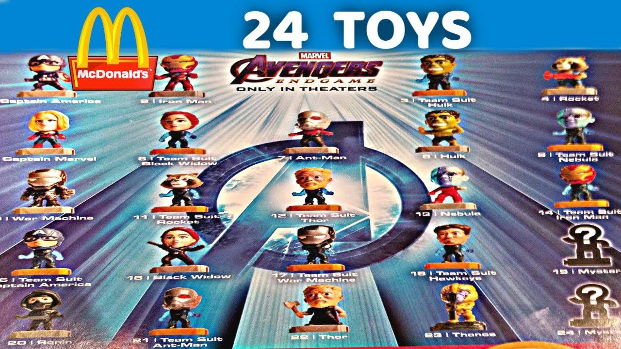 2019 Mcdonalds Marvel Avengers Endgame 24 Toys Happy Meal