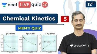NEET: Chemical Kinetics - Quiz 5 | Menti Quiz | Live Quiz 2.0 | Unacademy NEET | Anoop Sir