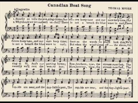 The Canadian Boat Song by Thomas Moore