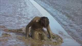 Mud bath in shorts