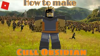 How to make Cull Obsidian in Roblox Superhero life 2