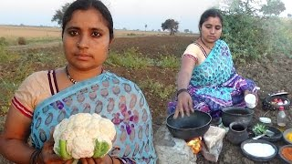 Village Foods Cooking Gobi Recipe Village Style | Cali-flower Recipe Cooking Videos | Country Food