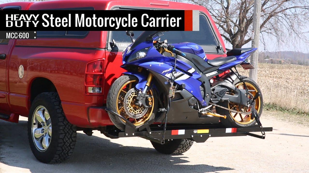 Heavy Duty Steel Motorcycle Carrier - YouTube