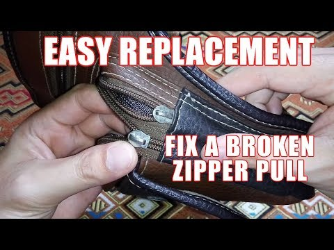 How to Fix a Zipper Pull – Repair a Zipper Without Replacing It in Just 2 Minutes!