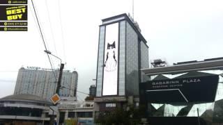 """Реклама корма для котов """"Felix"""" на медиафасаде гостиницы """"GAGARINN"""""""