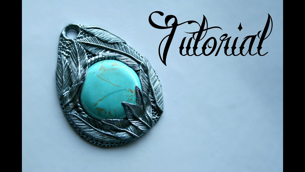 Silver turquoise polymer clay feather pendant tutorial diy silver turquoise polymer clay feather pendant tutorial diy jewellery fantasy velvetorium youtube aloadofball Images