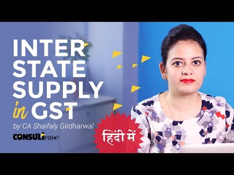 GST Inter -state supply vis a vis international supply
