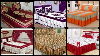 Most beautiful frill bed sheet designs / elegant Designer bed sheets /embroidered bed sheet designs.