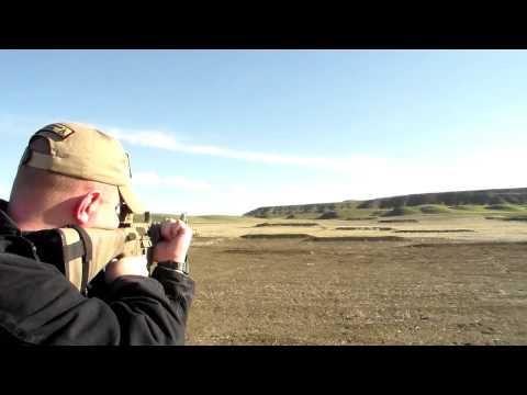 Shooting A2 Rifle Standing - 8 Inch Steel 300 Meters