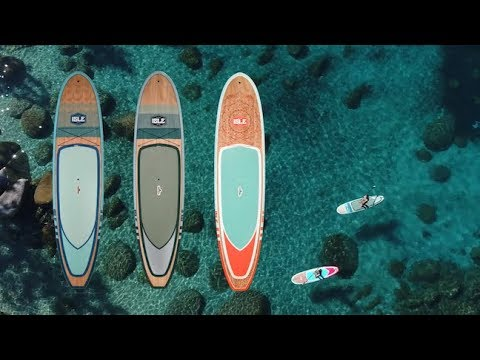 ISLE Glider Wood Paddle Board Package