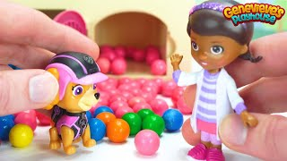 The Paw Patrol pups are Sick! Can Doc McStuffins help them feel better?