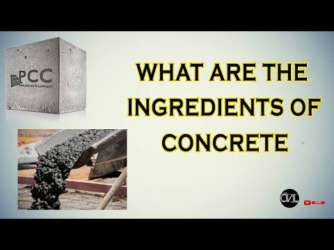 Ingredients of Concrete with detail-[HINDI]