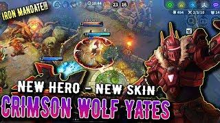 [Vainglory 3.7.0] Crimson Wolf Yates - New Hero and New Skin | SP Gameplay
