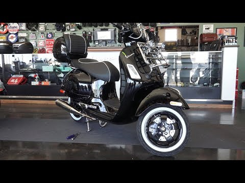 Custom Black 'n Chrome Vespa GTS Super by Vespa Motorsport