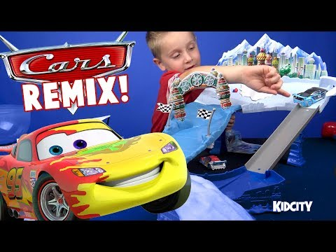 Disney Cars Toys Remix! Cars Tracks, Play-Doh, Colors & Lightning McQueen Family Fun!