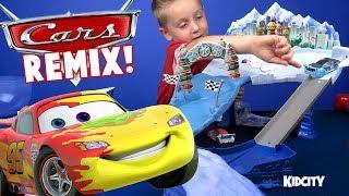 Disney Cars Toys Remix! Cars Tracks, Play-Doh, Colors & Lightning McQueen Family Fun!